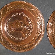 Antigüedades: PLATOS DE LATON. Lote 191068858