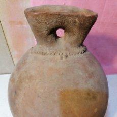 Antigüedades: ESPECTACULAR BOTIJA DE BARRO. Lote 191075088