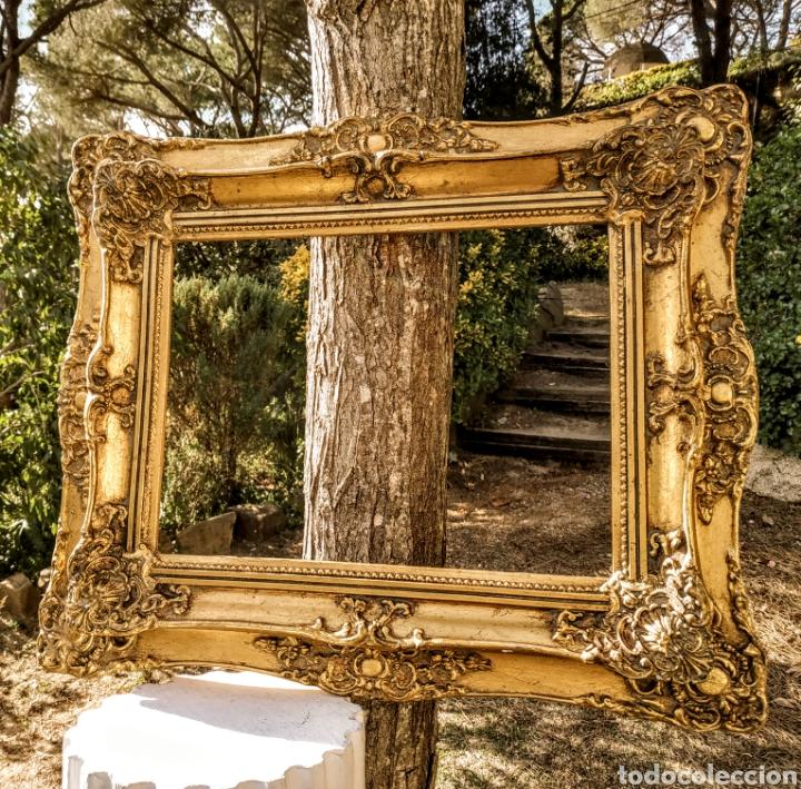 Antigüedades: Precioso Marco Clásico ornamentado doble marco ANTIQUE UNIQUE - Foto 5 - 191097986