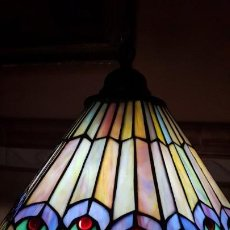 Antigüedades: LAMPARA DE CRISTAL TIFFANY .. Lote 191105816