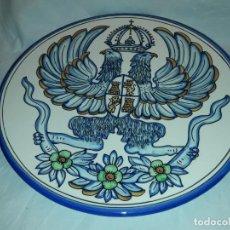 Antigüedades: MAGNIFICO GRAN PLATO CERÁMICA TALAVERA ESCUDO DE TOLEDO 38CM. Lote 191121606