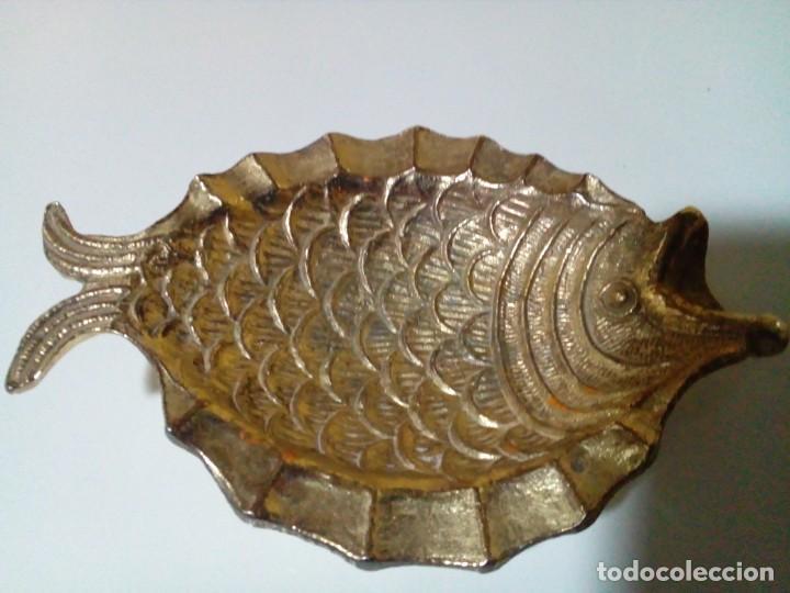 CENICERO ANTIGUO DE BRONCE MACIZO (Antigüedades - Hogar y Decoración - Ceniceros Antiguos)