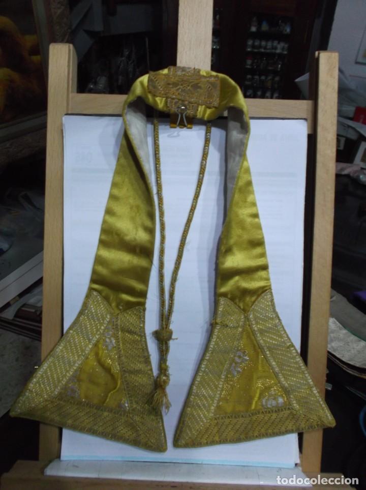 27 - MANIPULO SACERDOTAL ORO (Antigüedades - Religiosas - Artículos Religiosos para Liturgias Antiguas)
