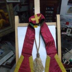 Antigüedades: 30 - MANIPULO SACERDOTAL ROJO Y ORO.. Lote 191137696