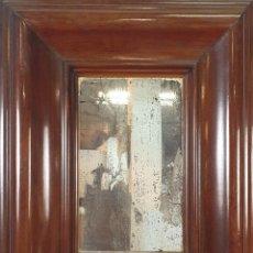 Antigüedades: ESPEJO ENMADERA DE CAOBA. ESTILO IMPERIO. SIGLO XIX.. Lote 191144423