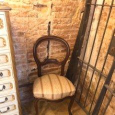 Antigüedades: SILLA ISABELINA DE CAOBA. Lote 191144850