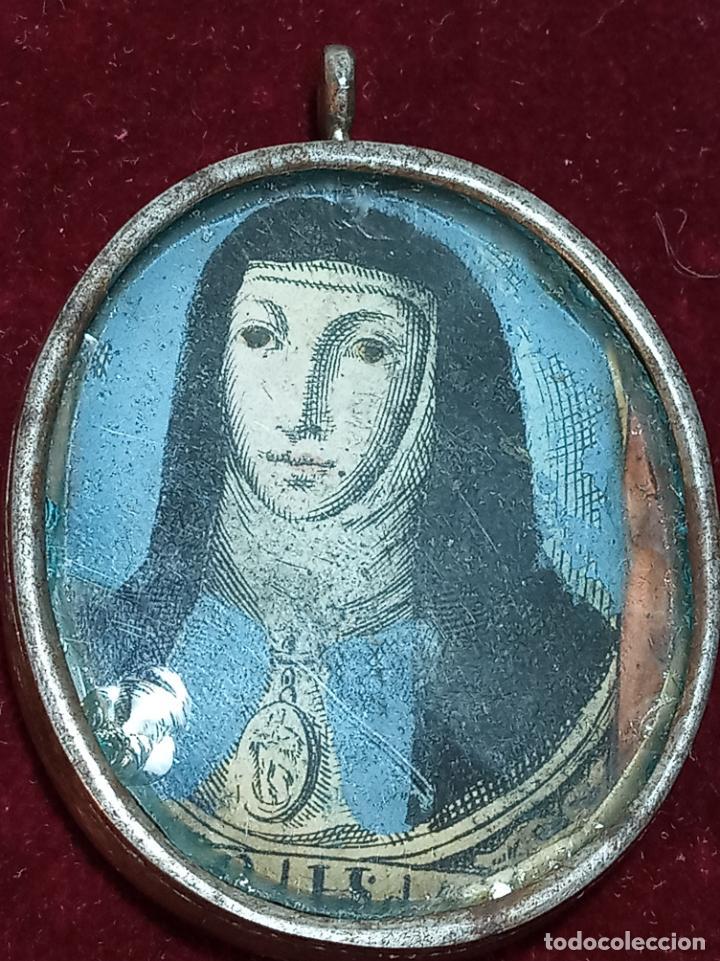Antigüedades: Relicario del siglo XVII. S. Águeda, S. Domingo, S. Ig. de Loyola, S. Fco. Javier., S. Ramón...Plata - Foto 5 - 191147415