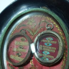 Antigüedades: RELICARIO DEL SIGLO XVII. S. ÁGUEDA, S. DOMINGO, S. IG. DE LOYOLA, S. FCO. JAVIER., S. RAMÓN...PLATA. Lote 191147415