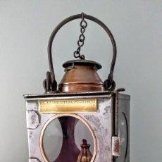 Antigüedades: FAROL DE FERROCARRIL LAMP MANUFACTURING & RAILWAY SUPPLIES LONDRES. C. 1900-1930. Lote 191153515
