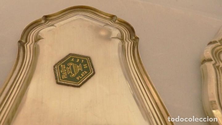 Antigüedades: JUEGO DE TOCADOR DE PLATA 8 PIEZAS - JOYERIA PEDRO DURAN. - Foto 8 - 191154350