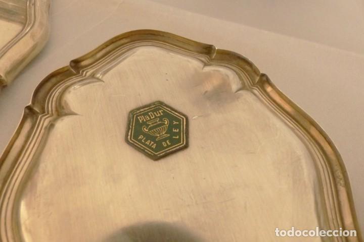 Antigüedades: JUEGO DE TOCADOR DE PLATA 8 PIEZAS - JOYERIA PEDRO DURAN. - Foto 9 - 191154350