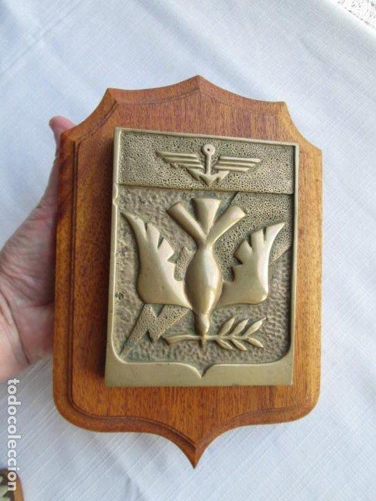 Antigüedades: METOPA EN BRONCE MACIZO CON PALOMA DE LA PAZ SOBRE MADERA NOBLE. PERFECTA PESA 1,8 KILOS - Foto 7 - 191155871