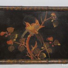 Antigüedades: PRECIOSA BANDEJA LACADA. JAPON. FINALES SIGLO XIX. Lote 191169366