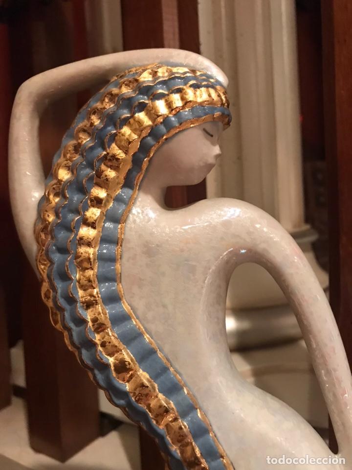 Antigüedades: Figura egipcia en porcelana - Foto 2 - 191179068