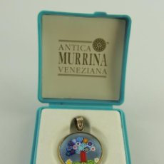 Antigüedades: COLGANTE CON CRISTAL DE MURANO Y PLATA 925-ANTICA MURRINA VENEZIANA EN SU CAJA. Lote 191189306