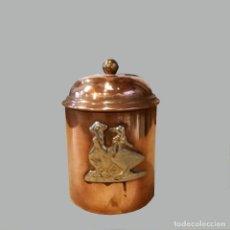 Antigüedades: BOTE DECORACIÓN COBRE. Lote 191194761