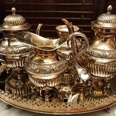 Antigüedades: JUEGO CAFE Y TE ÁRABE, ALTA CALIDAD. Lote 191195283
