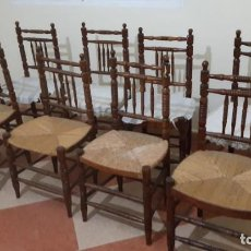 Antigüedades: SILLERIA ANTIGUA DE PALILLERIA Y ENEA. Lote 191218716