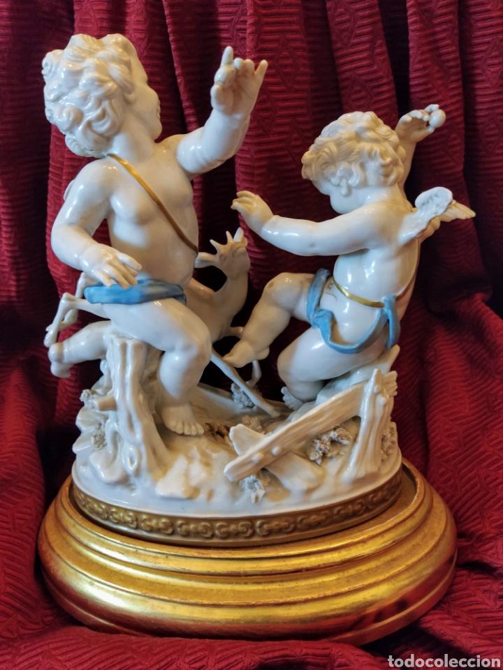 Antigüedades: Grupo de querubines porcelana de Algora. - Foto 4 - 191219006