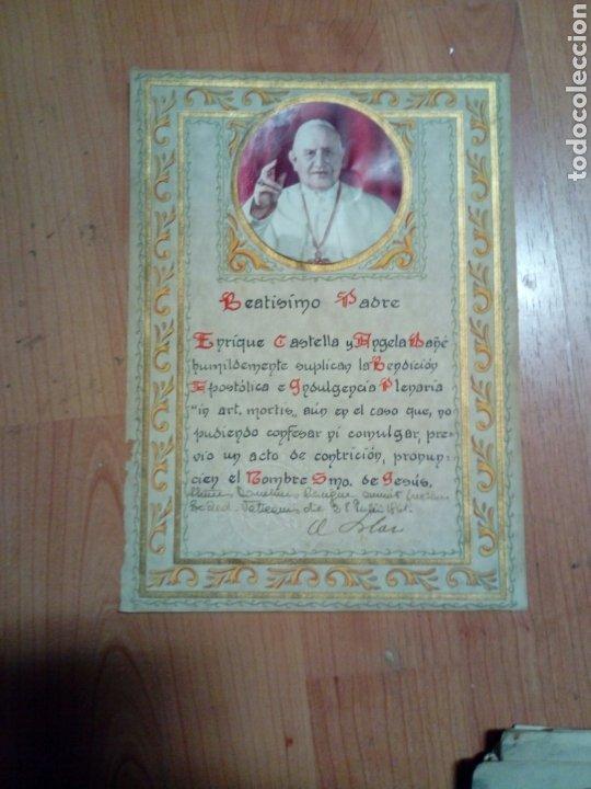 DOCUMENTO DEL PAPA - BEATISMO PADRE - VATICANO JULIO 1961 (Antigüedades - Religiosas - Varios)