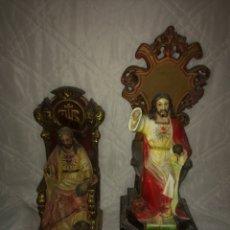 Antigüedades: LOTE DES FIGURAS ANTIGUAS RELIGIOSAS OLOT!. Lote 191226432