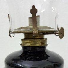 Antigüedades: QUINQUE BASE MURANO NEGRO. Lote 191229753