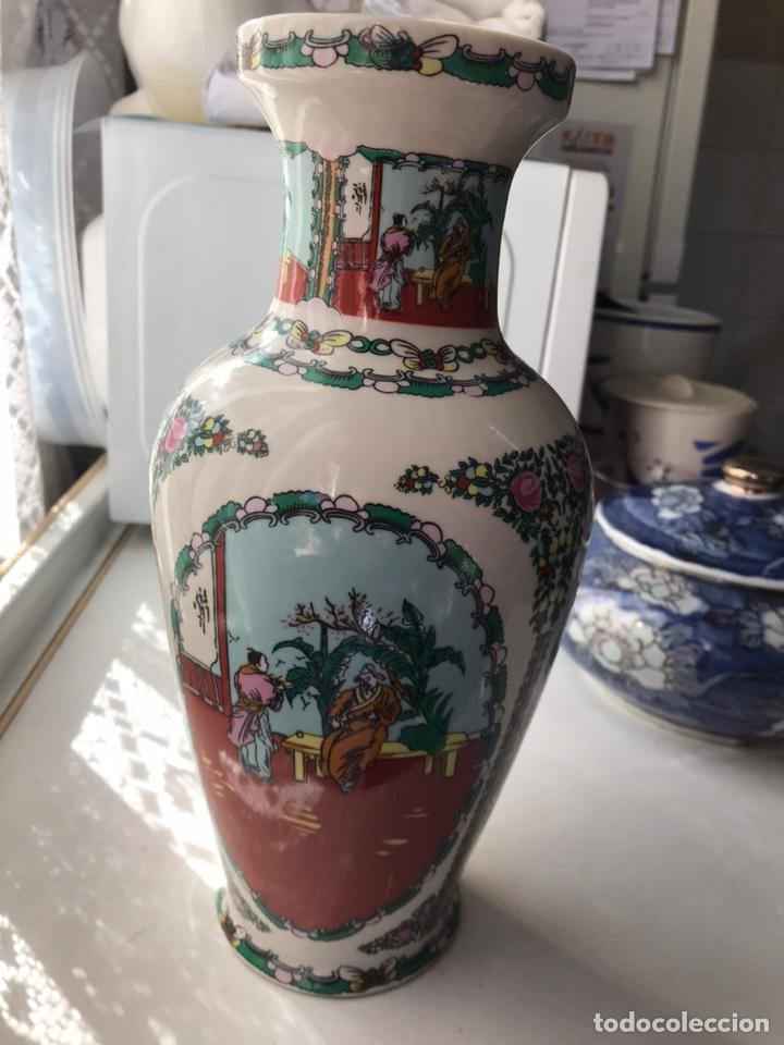 Antigüedades: Jarrón de porcelana china de Macao , - Foto 2 - 191266745