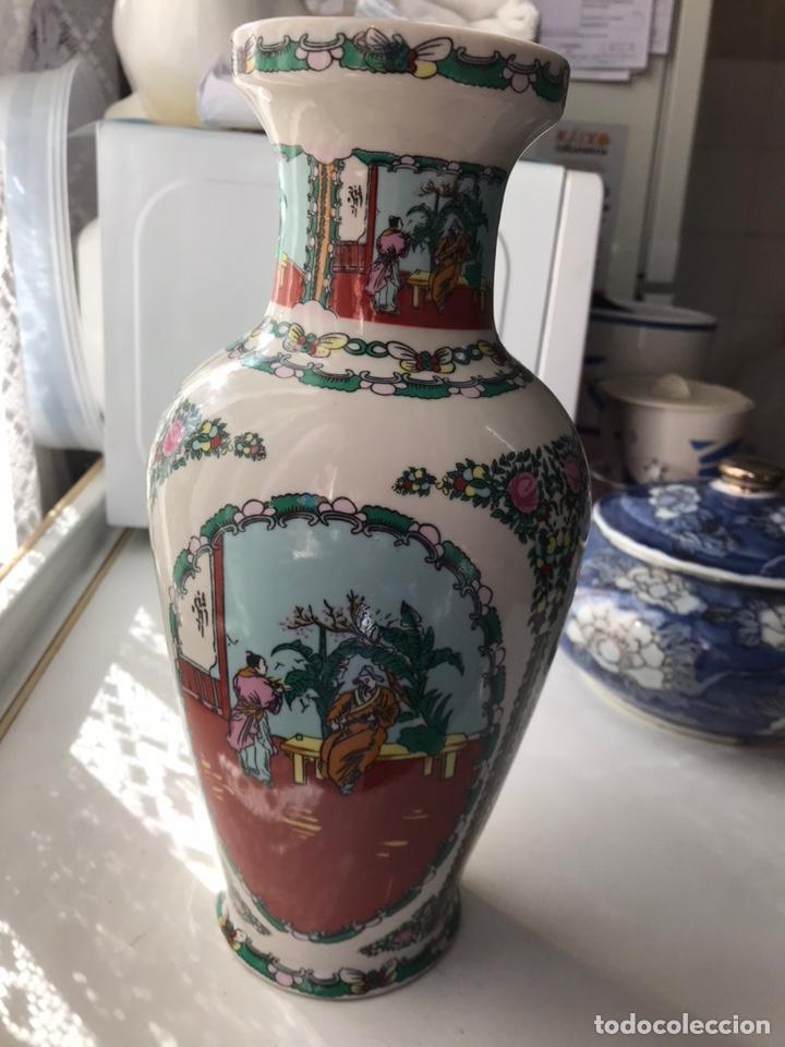 Antigüedades: Jarrón de porcelana china de Macao , - Foto 4 - 191266745