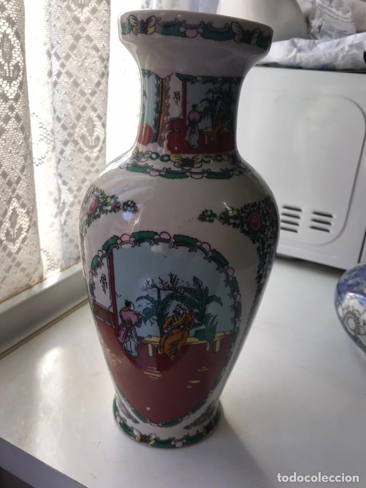 JARRÓN DE PORCELANA CHINA DE MACAO , (Antigüedades - Porcelanas y Cerámicas - China)