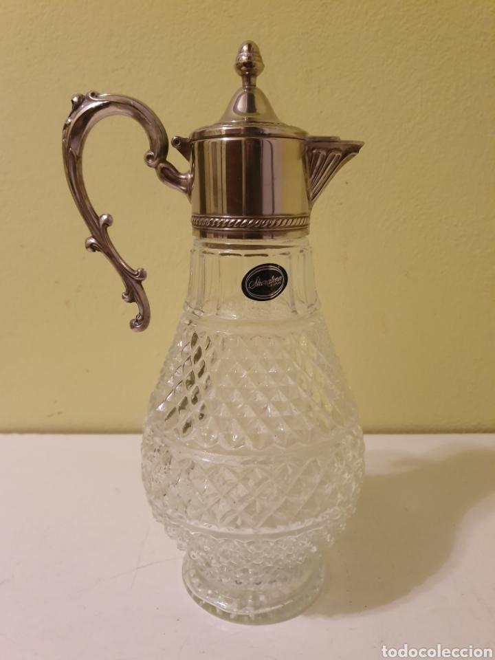 PRECIOSA Y ELEGANTE JARRA DE CRISTAL ITALIANA MARCA SHERATONN (Antigüedades - Cristal y Vidrio - Italiano)