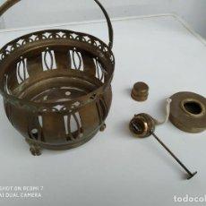 Antigüedades: ANTIGUA LAMPARA CANDIL PORTAVELA CANDIL EN BRONCE COLECCION VINTAGE CORRECTO CASA RURAL. Lote 191275203