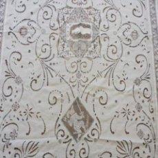 Antiquités: ANTIGUA COLCHA DE ENCAJES S.XIX. Lote 191276535