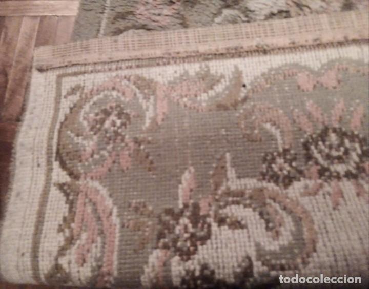 Antigüedades: Alfombra años 50. Posiblemente lana. 135x70 cm. Pie de cama - Foto 3 - 191280657