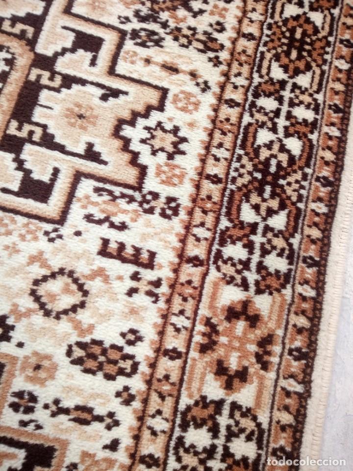 Antigüedades: Preciosa alfombra de pasillo de lana,tonos beig y marron,industrial. - Foto 7 - 191308416