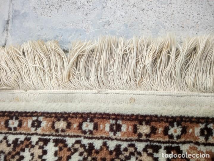 Antigüedades: Preciosa alfombra de pasillo de lana,tonos beig y marron,industrial. - Foto 9 - 191308416