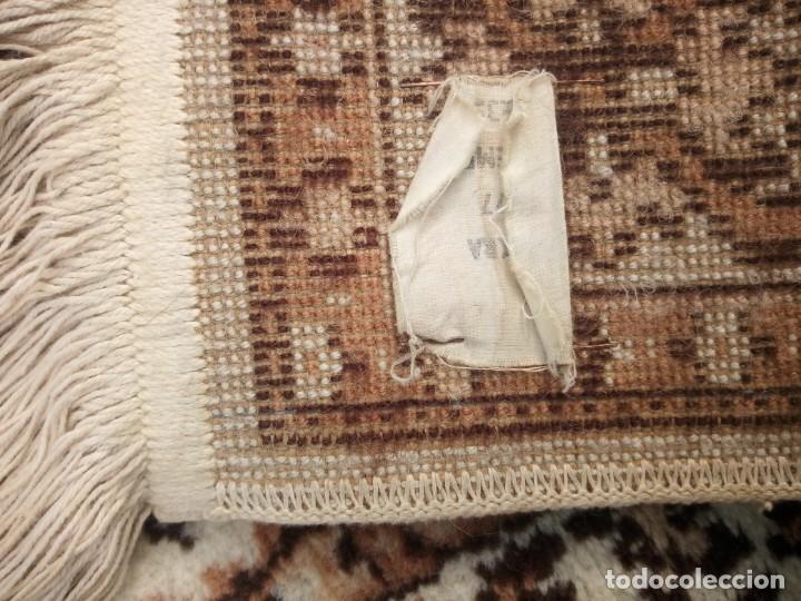 Antigüedades: Preciosa alfombra de pasillo de lana,tonos beig y marron,industrial. - Foto 10 - 191308416