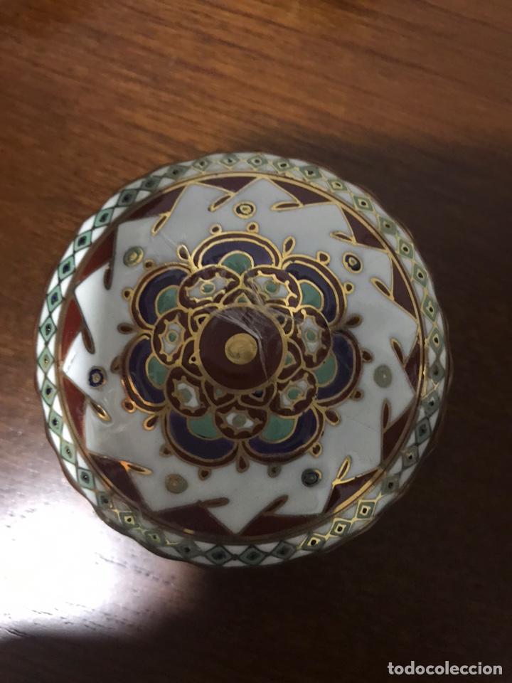 CAJA DE PORCELANA FINA INDIA (Antigüedades - Porcelanas y Cerámicas - Otras)