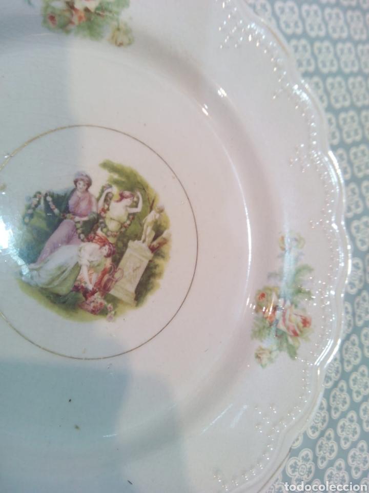 Antigüedades: Bonito plato de San Claudio. principios de S XX. - Foto 2 - 191315602