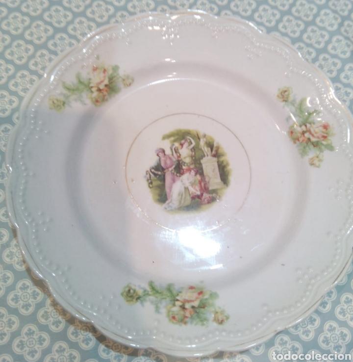 Antigüedades: Bonito plato de San Claudio. principios de S XX. - Foto 3 - 191315602