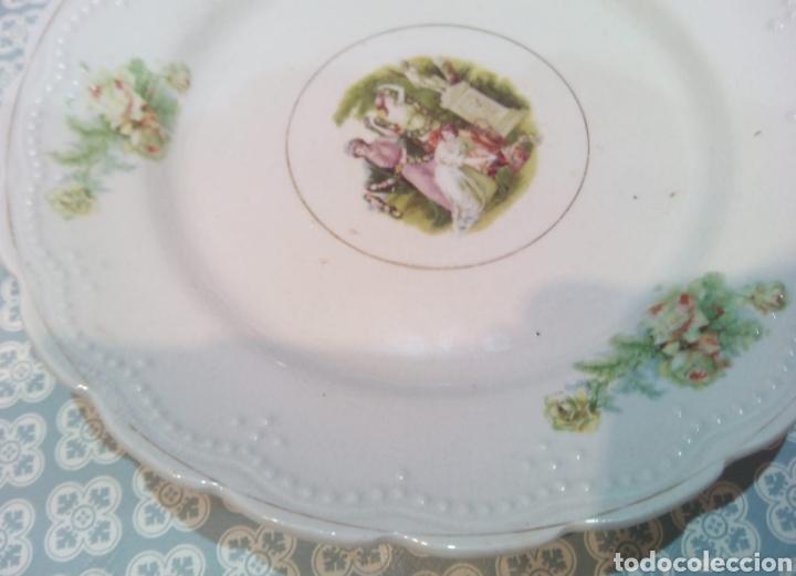Antigüedades: Bonito plato de San Claudio. principios de S XX. - Foto 4 - 191315602