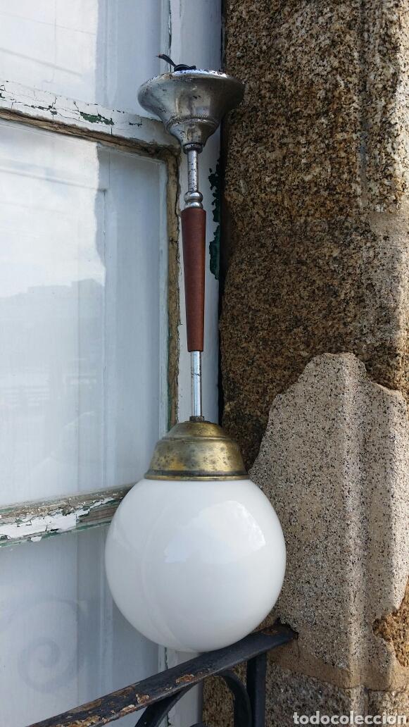 Antigüedades: Lámpara de techo opalina circa 1940 - Foto 3 - 191317235