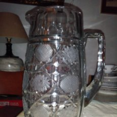 Antigüedades: JARRA DE CRISTAL TALLADO GRANDE BOHEMIA. Lote 191318578