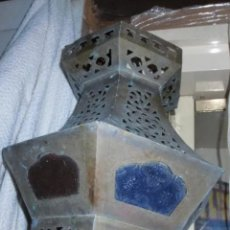 Antigüedades: ANTIGUO FAROL CON VIDRIERAS. Lote 191323098