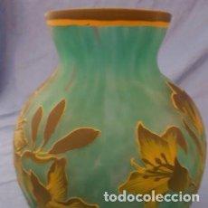 Antigüedades: JARRÓN CRISTAL ESTILO ART NOUVEAU GALLE TIP. Lote 191324257