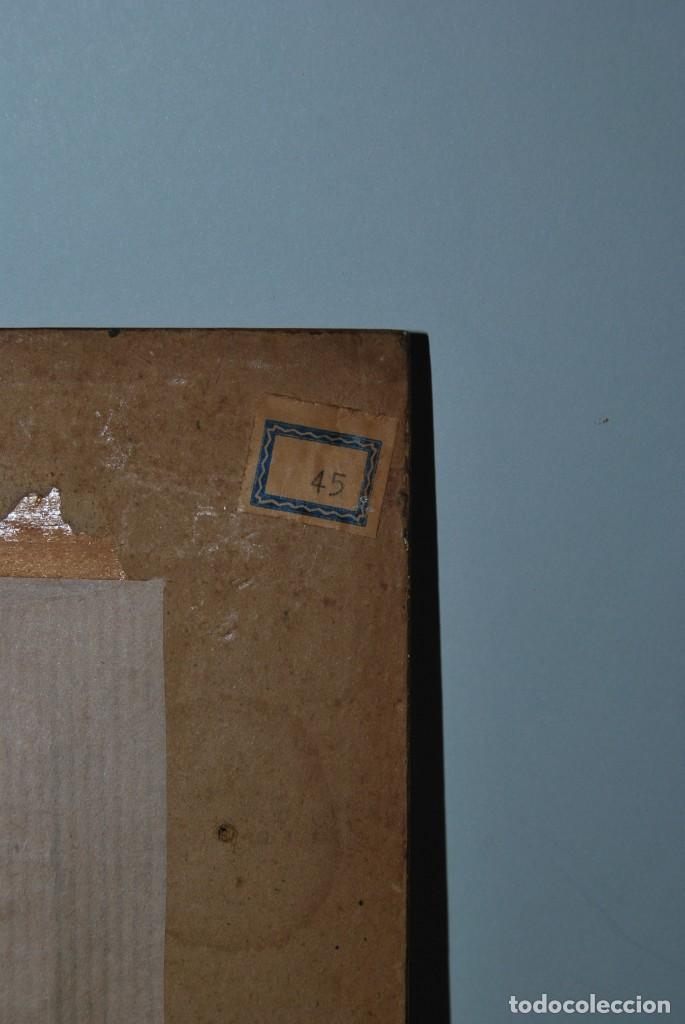 Antigüedades: BONITO ESPEJO TIPO VENECIANO - MARCO DE ESPEJO Y METAL - AÑOS 40 - Foto 10 - 191331721