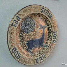 Antigüedades: PLATO REFLEJO METALICO. MANISES.32 CM.. Lote 191332807