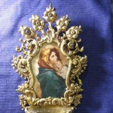 Antigüedades: BENDITERA DE BRONCE. Lote 191334565