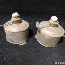 Antigüedades: ANTIGUOS QUINQUES PORTÁTILES CON MECHA. Lote 191350965