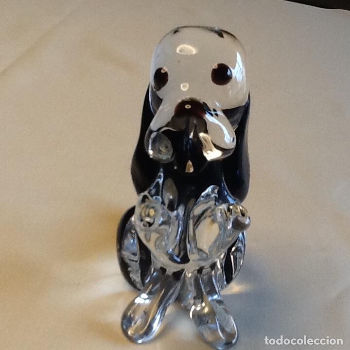 Antigüedades: Precioso pisapapeles perro cristal murano. Peso 414grs. - Foto 3 - 191357217