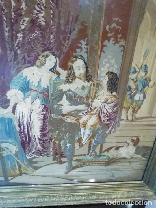 Antigüedades: TAPIZ ANTIGUO VICTORIANO. S.XIX. PUNTO DE CRUZ / ENGLISH TAPESTRY [ SIN MARCO CON BASTIDOR] - Foto 3 - 191357515